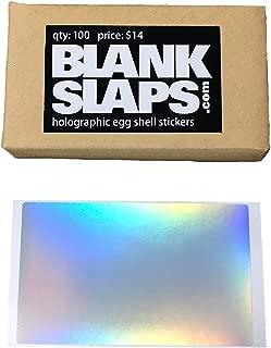 Blankslaps Holographic Egg Shell Blanks Sticker Pack - 100 Easy Peel Blank Eggshell Stickers for Graffiti Art, Street Art, Streetart and Tagging Slaps