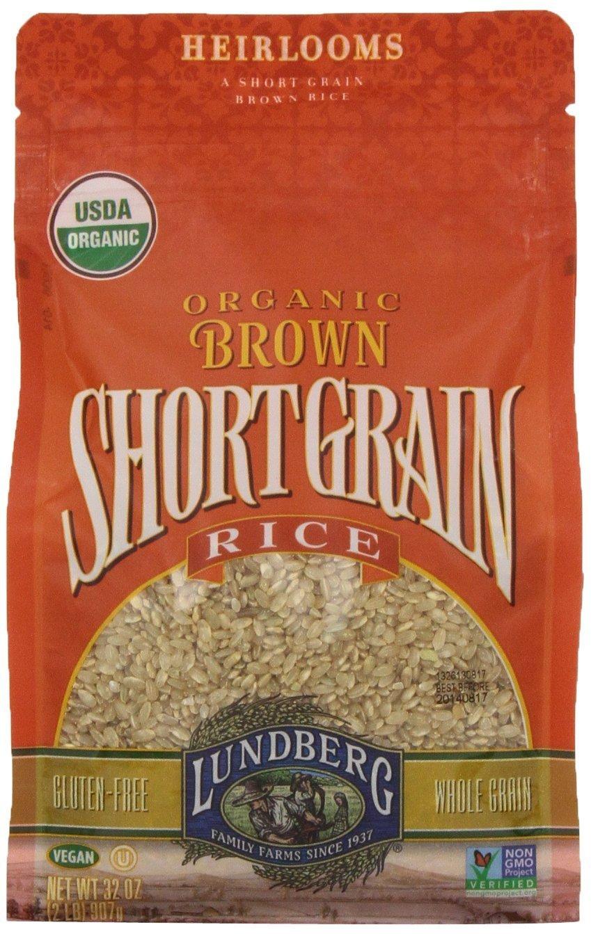 4 Pack -Lundberg Organic Department store Short Grain Max 50% OFF Brown 32-ounce Rice