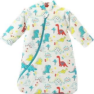 TOOGOO Unisex Baby Sleepsack Wearable Blanket Cotton Sleeping Bag Long Sleeve Nest Nightgowns Thickened Winter Dinosaur/3.5 Tog L