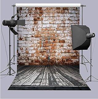 Rongri Fotohintergrund, 18 x 152 cm, Vintage Ziegelstein Wand Hintergrund, Holz, zum Aufhängen, für Kinderstudio Requisiten, RR_qx069 5x7FT, 5X7FT (Width 150cm x Height 210cm)