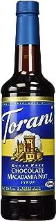 Torani Sugar Free Chocolate Macadamia Nut Syrup, 750 ml