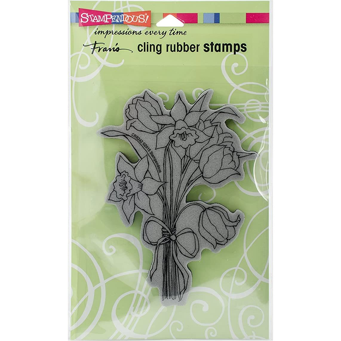 STAMPENDOUS Daffodil Bunch Rubber Stamp Cling