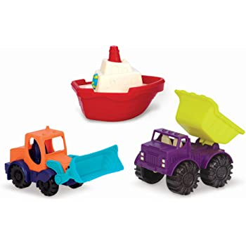 B. toys - Mini Toy Cars - Water & Sand Vehicles Beach Playset for Kids 18 Months+  (3- Pcs)