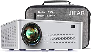 """Native 1080p Projector,7300 L Projector for Outdoor Movies with 400""""Display,Support 4K Dolby & Zoom,100000 hrs Life,Indoor..."""