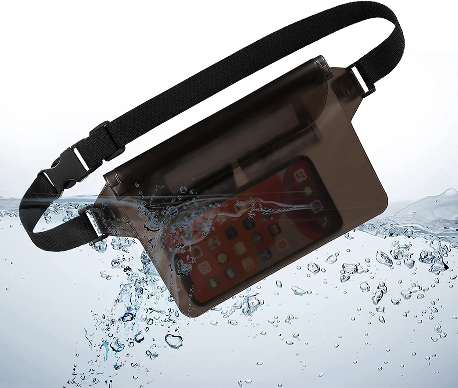 Waterproof Pouch Reservation with Waist Strap Touchable free shipping Dry Screen Bag