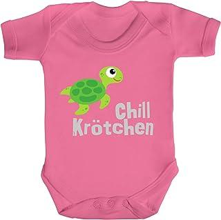 ShirtStreet süße Schildkröte Turtle Strampler Bio Baumwoll Baby Body kurzarm Jungen Mädchen Chillkrötchen 1