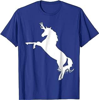 Unicorn The Finger Circle Game Punch Prank Meme T-Shirt