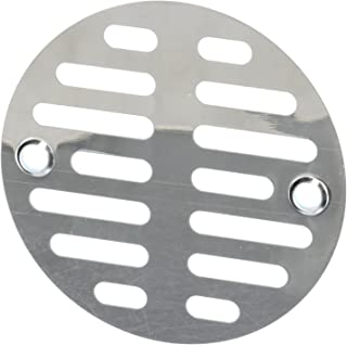 LASCO 03-1247 3-1/2-Inch with Two Screws Shower Drain Grate, Chrome Plated