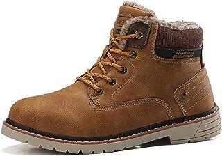 Militaire armée Cheville Bottines Hommes décontractés décontractés Chaussures de Travail véritable Hiver Hiver Chaud Fourr...