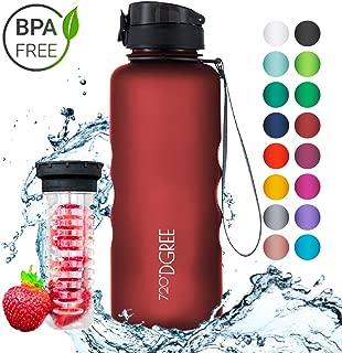 720°DGREE Leakproof Tritan Water Bottle uberBottle - 50 oz, 1.5 Liter   Ideal for School, Fitness, Outdoor, Sport, Bike, Kids, Camping   with Fruit Filter - BPA Free