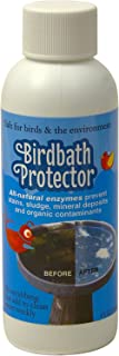 Birdbath Protector The Best Birdbath Cleaner that Prevent Stains and Mineral Deposits. All Natural Enzymes Help Keep Your Birdbaths looking Like Brand New and is Safe for Birds. 4oz.