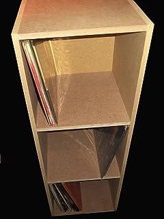 Mueble ESTANTERIA DE Madera MDF para ARCHIVAR 300 Discos DE Vinilo LP/Ref.MAR022