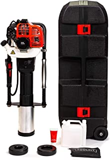 XtremepowerUS 52cc Gas-Powered T Post Driver Fence Post Driver Gasoline Piling 2-Stroke Engine EPA Certificated w/Storage Case