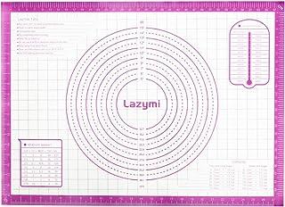 Lazymi Antidérapant Tapis de Cuisson en Silicone, Anti-Adhérent Feuille de Cuisson Patisserie avec Mesures 71 x 51 cm, Tap...