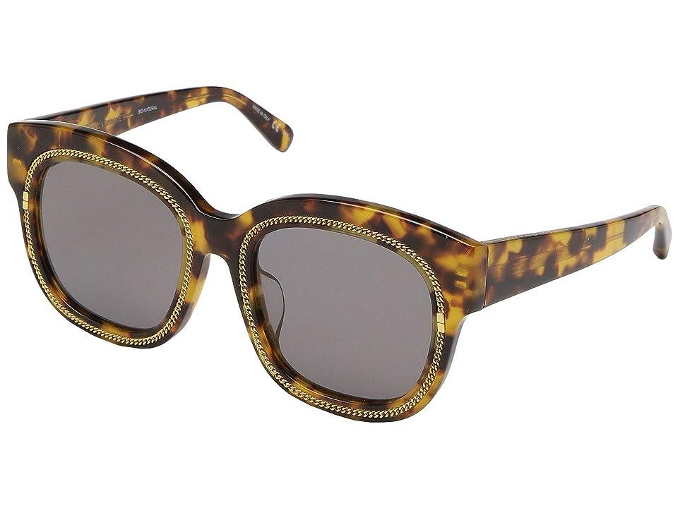 Stella McCartney SC0041SA (Avana/Avana/Bronze) Fashion Sunglasses, Gray