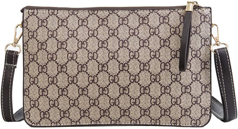 Shoulder Bag,Fashion Women Zipper Envelope Bag Vintage Printing Crossbody Bag Clutch Messenger Bag