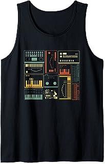 Sintetizador modular analógico Teclado productor de música Camiseta sin Mangas