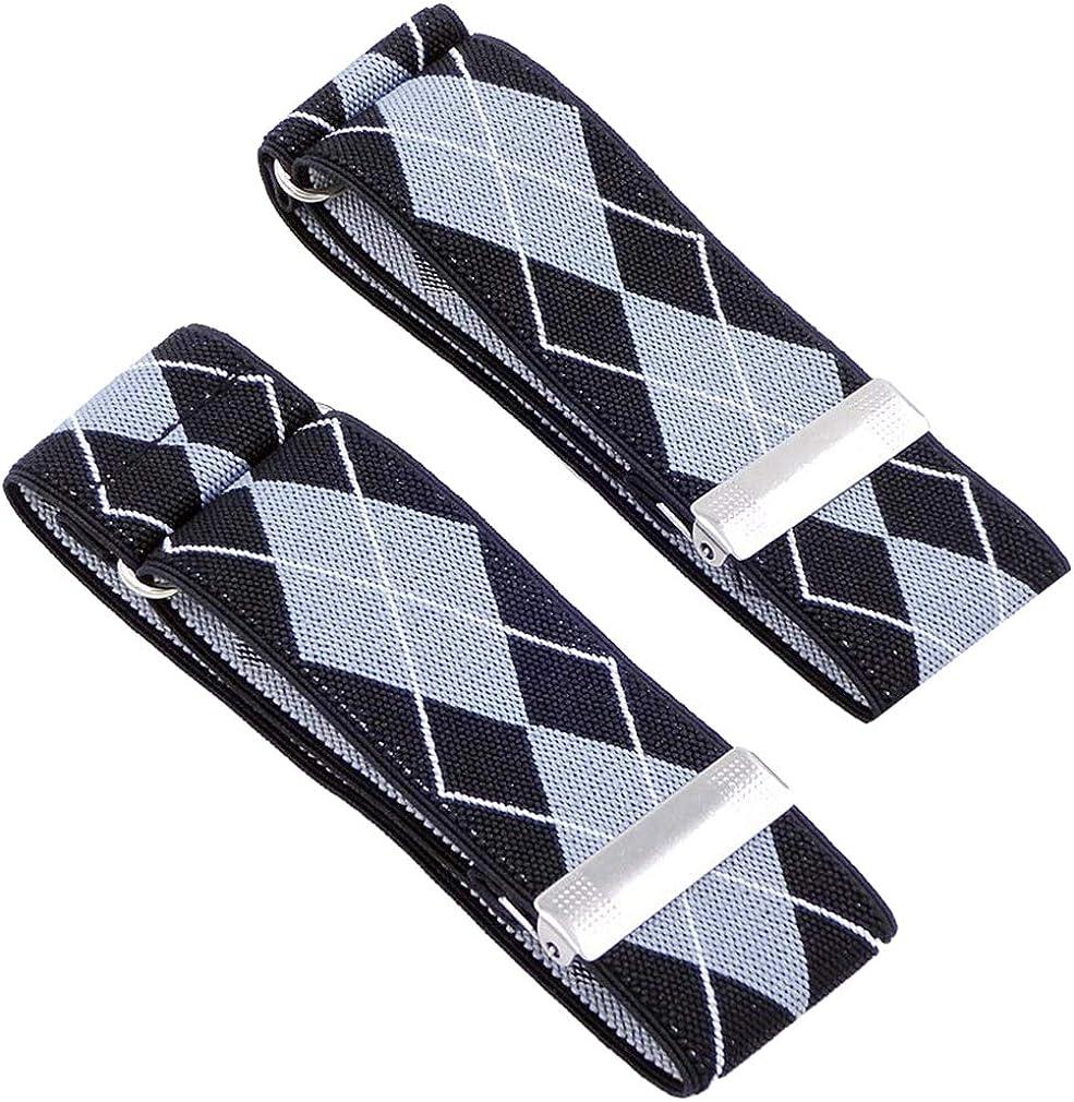 SupSuspen Mens 2 PCS Argyle Shirt Garters Sleeve Holders Armbands 1.4 Inch Width