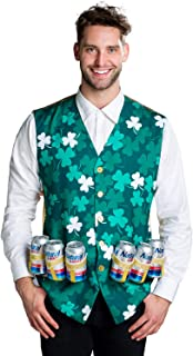 St. Paddy's Day Costume Vest w/Built in Six Pack - Funny St. Patrick's Day Clothes