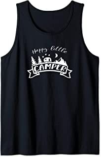 Happy Little Camper RV Quote Camping Travel Lover Tank Top