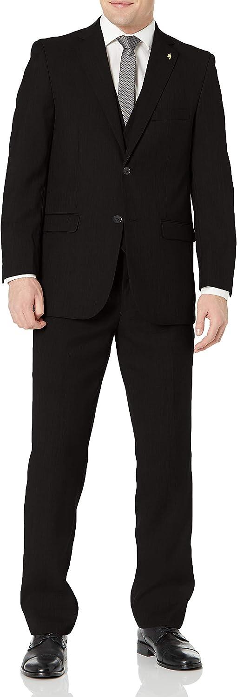 STACY ADAMS Men's 3 Piece Notch Lapel Classic Fit Suit