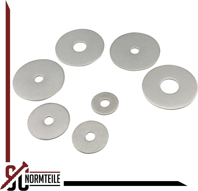 V2A - Kotfl/ügelscheiben 10,5x35 M10 - DIN 9022 50 St/ück SC-Normteile Karosseriescheiben rostfreier Edelstahl A2 - SC9022