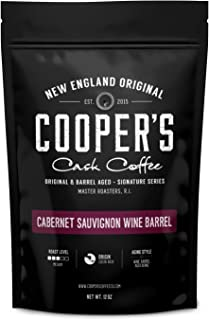 Cabernet Sauvignon Wine Barrel Aged Coffee | Costa Rica Beans, Incredibly Complex & Smooth Roasted Fresh - Whole bean 12oz Bag