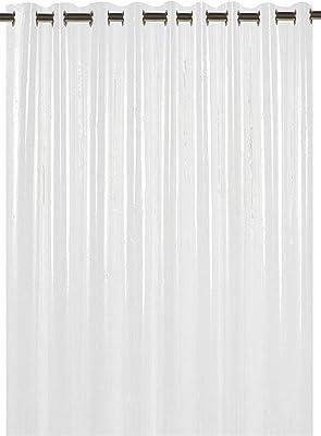 Kuber Industries PVC 1 Piece Eyelet 30 MM AC Curtain 7 Feet (Transparent)(54x84 inch)- CTKTC5670