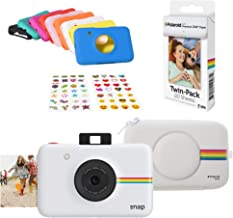 Polaroid Snap Instant Digital Camera (White) Protective Kit with 20 Sheets Zink Paper