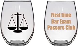 First Time Bar Exam Passers Club Large Wine Glass, Lawyer, Attorney, Law School Grad Gift, 21 oz