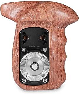 SMALLRIG Wooden Handle Grip Rosette Handle Mango de Roseta (Lado Izquierdo) para Cages de Cámara y Plataforma de Hombro - 1891