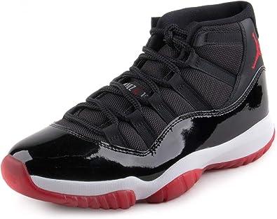 Nike Mens Air Jordan 11 Retro BRED Black/True Red-White Leather Size