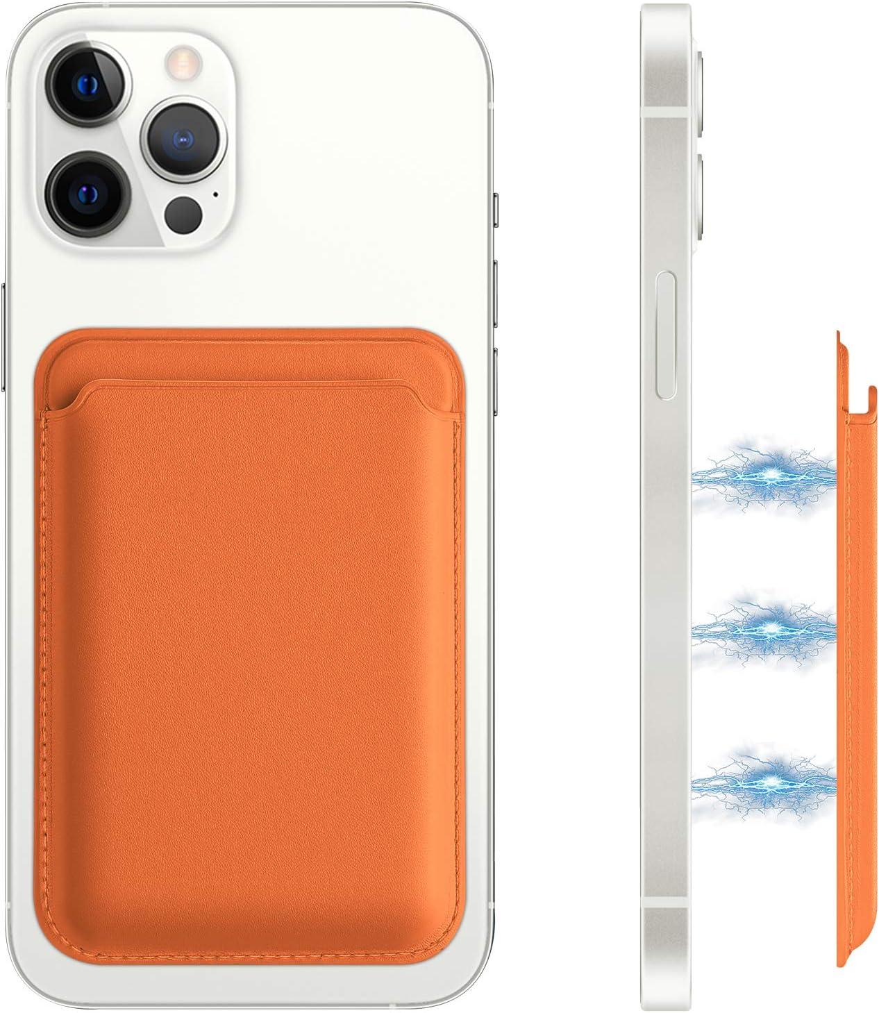 FRESHCLOUD Magnetic MagSafe Wallet Leather MagSafe Card Holder for ...