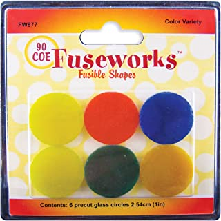 1-Pack Violet Fuseworks Dichroic Honeycomb 90 COE Fusible 2-Inch-by-3-Inch Glass
