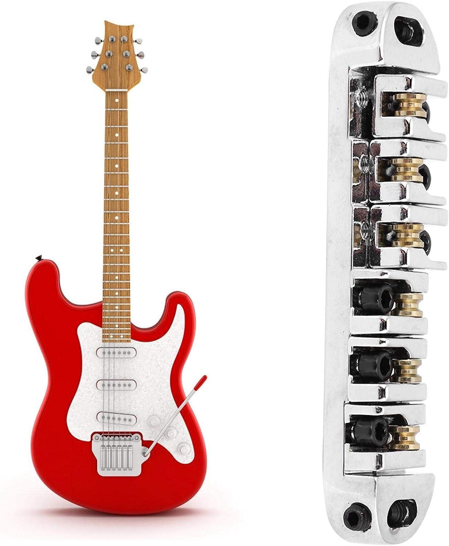 Qqmora Accesorio de Juego de Piezas de Cola de Guitarra con Rueda Loca de latón para Amantes de la Guitarra para reemplazar cordales de Puente de Guitarra Desgastados, dañados o Viejos.