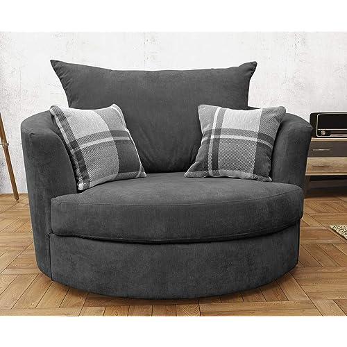 mesmerizing swivel chairs living room furniture | Swivel Chairs for Living Room: Amazon.co.uk