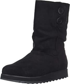 Skechers Women's Keepsakes 2.0-Big Button Mid Slouch Boot with Microfiber Upper Fashion