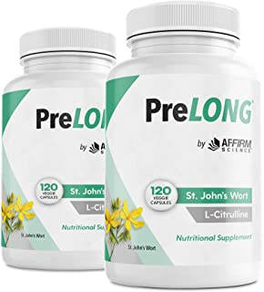 PreLONG St. Johns Wort & L-Citrulline Nutritional Supplement 700mg | 120 Veggie Capsules, 2 Pack