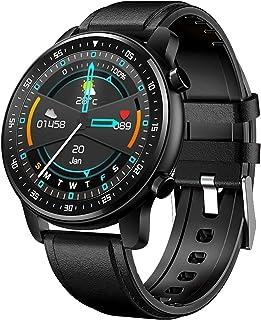 LTLGHY Reloj Inteligente Hombre, Smartwatch Hombre De Pantalla Táctil Ccompleta Impermeable IP68, Pulsera De Actividad Inteligente con 8 Deportes Pulsómetro Sueño GPS Caloría iOS Y Android,Negro