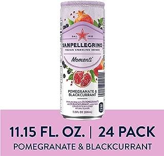 Sanpellegrino Momenti Pomegranate & Blackcurrant Cans, 11.15 Fl Oz (24 Pack)