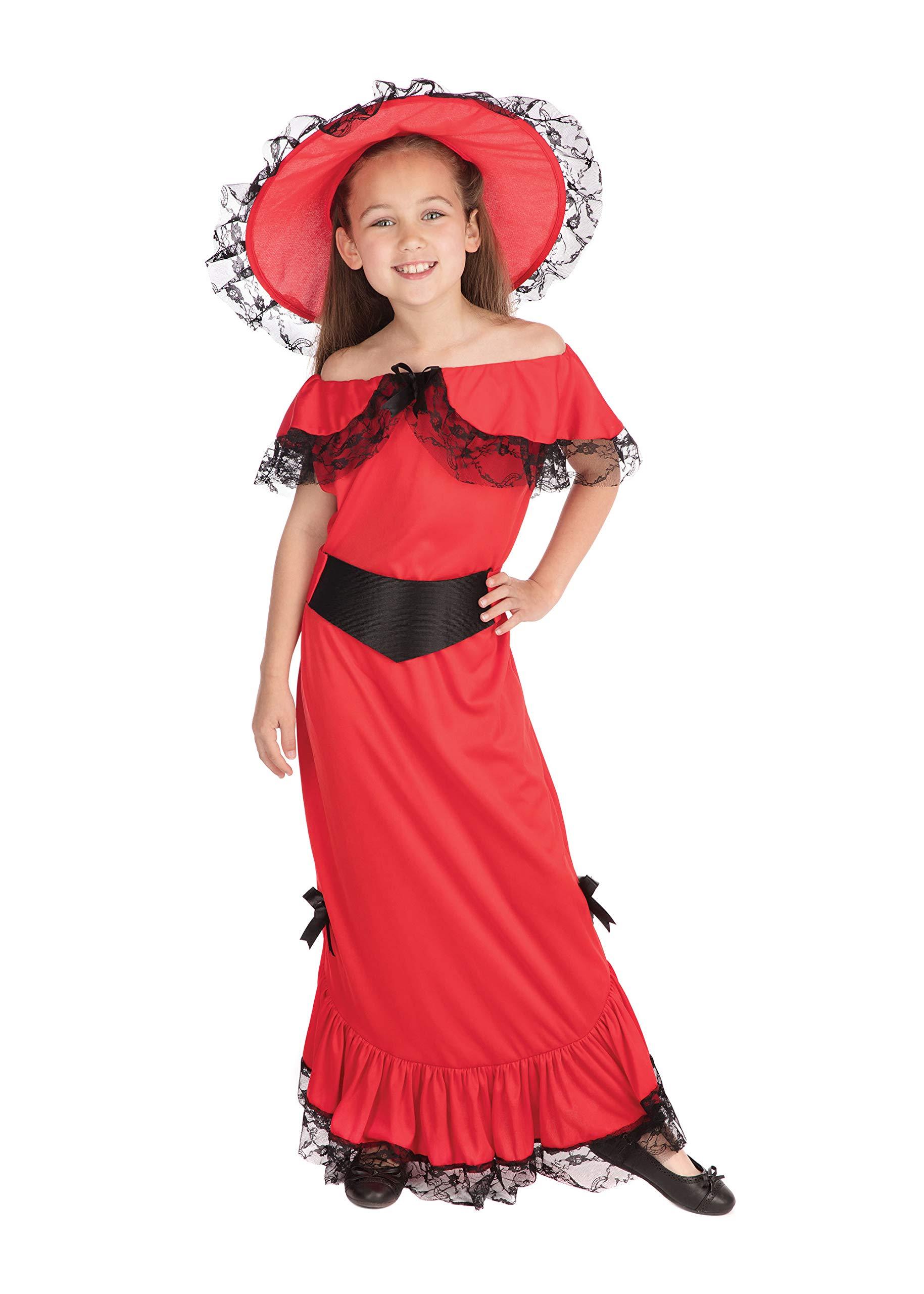 Theme Fancy Dress Disfraz de niña de Escarlata OHara. 10-13 años ...