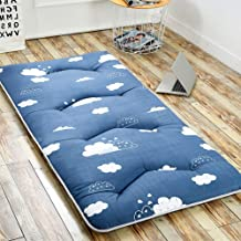 Tatami Mattress Topper, Futon Mattress Topper Foldable Comfort Portable Folding Single Double Bed Soft and Breathable for ...