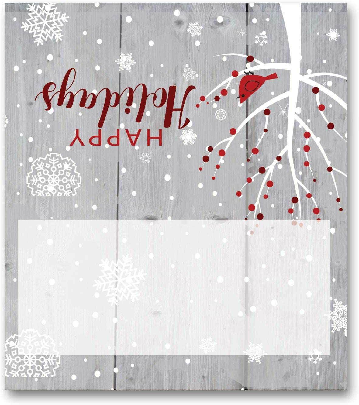 Stonehouse Collection Winter Holiday Name Place Cards - 25 Christmas Holiday Table Tents - Place Cards (Winter Tree)