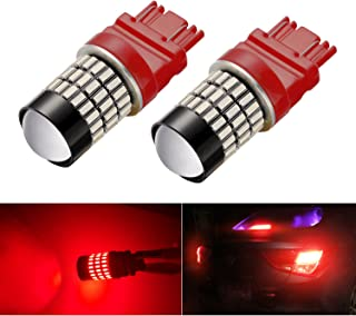 AHEVO Super Bright Low Power 9-30V Dual Brightness 3156 3157 3056 3057 LED Bulbs with Projector Replacement for Tail Brake Lights,2 Pack Brilliant Red