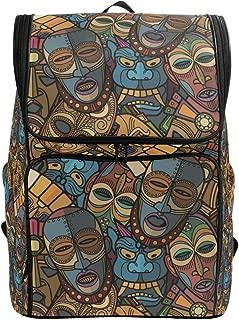 Canvas Backpack African Craft Voodoo Tribal Mask Large Capacity School Daypack Bookbag Laptop Backpack