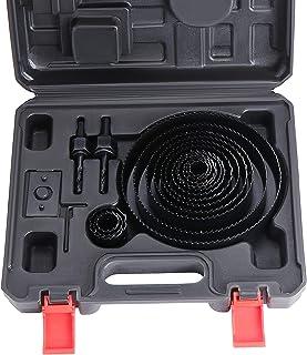 pl/ástico y metales no ferrosos 6 pladur 19 mm HSEAMALL 20PCS Kit de cortador de sierra para agujeros Downlights de acero al carbono Brocas para madera - 3//4 152 mm