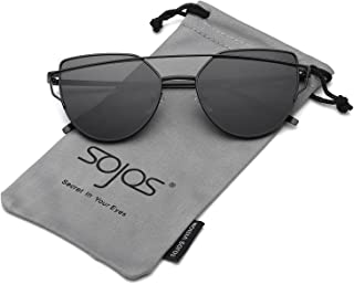 metal bar cat eye sunglasses