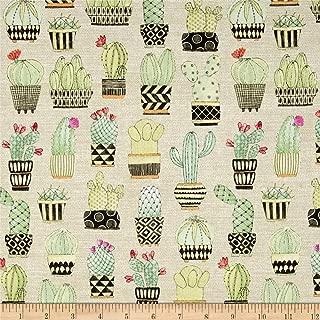 Michael Miller 0477782 Lovely Llamas Cactus Hoedown Tan Fabric by the Yard