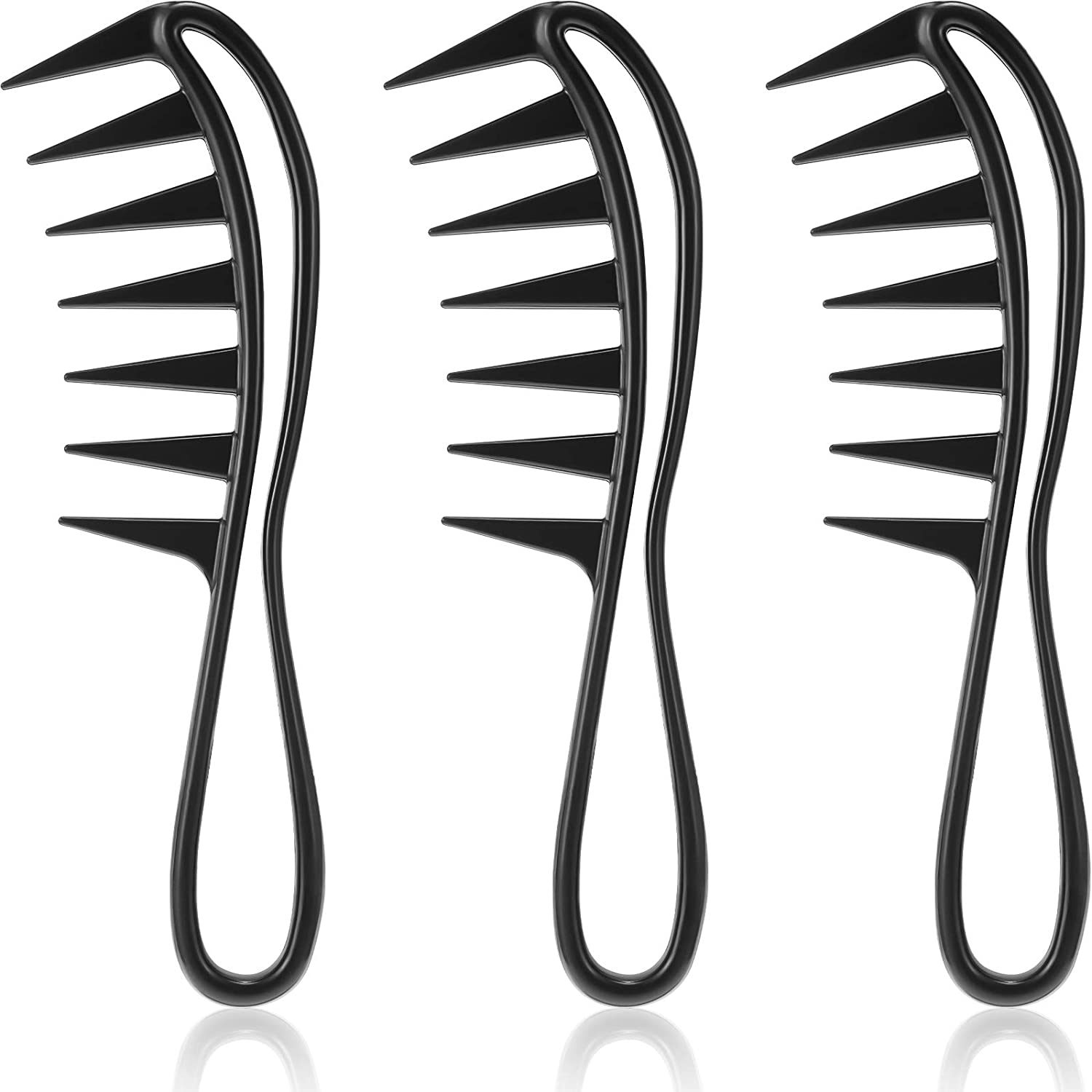 3 Our shop Tampa Mall OFFers the best service Pieces Wide Tooth Detangling Shower Sp Comb Flexible