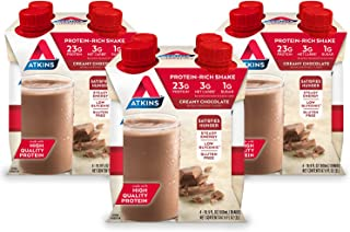 Atkins Meal Size Protein-Rich Shake, Creamy Chocolate, Keto Friendly, 16.9 oz., 4 Count (Pack of 3)